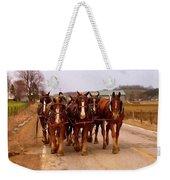 Clydesdale Amish Plow Team Weekender Tote Bag