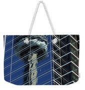 Cn Tower Reflected In A Glass Highrise Weekender Tote Bag