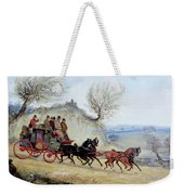 Coaching Oil Of A Royal Mail Coach Crossing Landscape Weekender Tote Bag