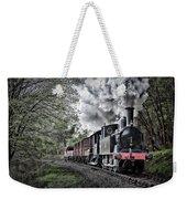 Coal Tank Engine In The Rain Weekender Tote Bag
