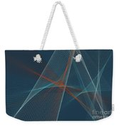 Coast Computer Graphic Line Pattern Weekender Tote Bag