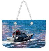 Coast Guard Out To Sea Weekender Tote Bag by Aaron Berg
