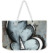 Coastal Art Contemporary Sailboat Painting Whimsical Design Silver Sea II By Madart Weekender Tote Bag