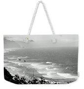 Coastal Bandw Weekender Tote Bag