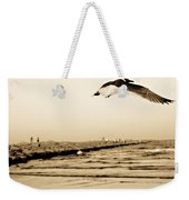 Coastal Bird In Flight Weekender Tote Bag