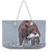 Coastal Brown Bear With Salmon  Weekender Tote Bag