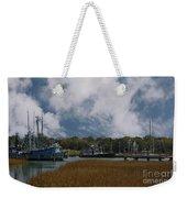 Coastal Island Town Weekender Tote Bag