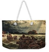 Coastal Landscape With Ships On The Horizon Weekender Tote Bag