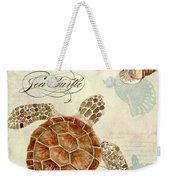 Coastal Waterways - Green Sea Turtle Rectangle 2 Weekender Tote Bag