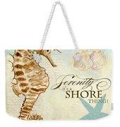 Coastal Waterways - Seahorse Serenity Weekender Tote Bag
