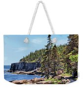 Coastline And Otter Cliff 4 Weekender Tote Bag
