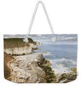 Coastline Viewed From Thornwick Bay Flamborough Weekender Tote Bag