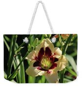 coat and tie Daylily Weekender Tote Bag