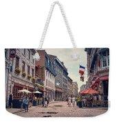 Cobblestone Streets In Old Montreal  Weekender Tote Bag