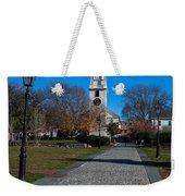 Cobblestone To Trinity Church Newport Rhode Island Weekender Tote Bag