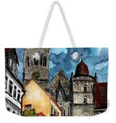 Coburg Germany Castle Painting Art Print Weekender Tote Bag
