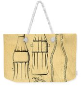 Coca Cola Bottle Patent Art 1937 Blueprint Drawing Weekender Tote Bag