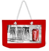 Coca-cola Glasses And Can - Selective Color By Kaye Menner Weekender Tote Bag
