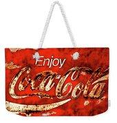 Coca Cola Square Soft Grunge Weekender Tote Bag
