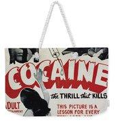 Cocaine Movie Poster, 1940s Weekender Tote Bag