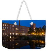 Cocheco Mills At Blue Hour Dover New Hampshire Weekender Tote Bag