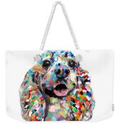 Cocker Spaniel Head Weekender Tote Bag