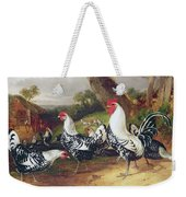 Cockerels In A Landscape Weekender Tote Bag
