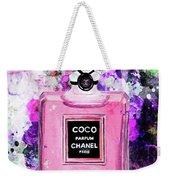 Coco Chanel Parfume Pink Weekender Tote Bag