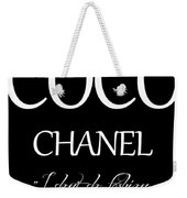 Coco Chanel Quote Weekender Tote Bag