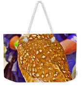 Coco The Burrowing Owl In Living Desert Zoo And Gardens In Palm Desert-california Weekender Tote Bag