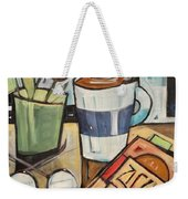 Cocoa And A Good Book Weekender Tote Bag by Tim Nyberg