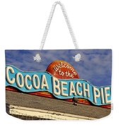 Cocoa Beach Pier Sign Weekender Tote Bag