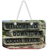 Cocoa Beach Welcome Sign Weekender Tote Bag