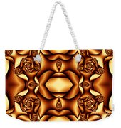 Cocoa Fractal Roses Weekender Tote Bag