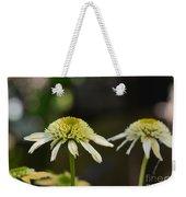 Coconut Lime Echinacea Weekender Tote Bag