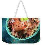 Coconut Milk Sorbet With Strawberry Sauce Vanilla Ice Cream Weekender Tote Bag