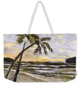 Coconut Palms On Cloudy Day Weekender Tote Bag