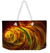 Cocoon Of Glowing Spirits Abstract Weekender Tote Bag