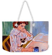 Coffee And Cat Weekender Tote Bag