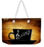 Coffee And Music Weekender Tote Bag by Lourry Legarde