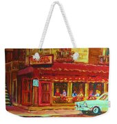 Coffee Bar On The Corner Weekender Tote Bag