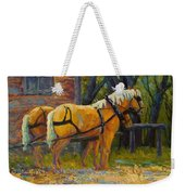 Coffee Break - Draft Horse Team Weekender Tote Bag