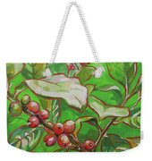 Coffee Cherries Weekender Tote Bag