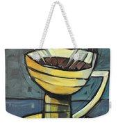 Coffee Cup Three Weekender Tote Bag
