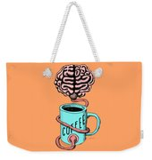 Coffee For The Brain Funny Illustration Weekender Tote Bag