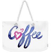 Coffee Lover Typography Weekender Tote Bag