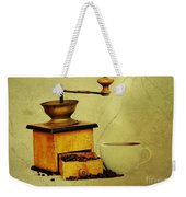 Coffee Mill And Cup Of Hot Black Coffee Weekender Tote Bag