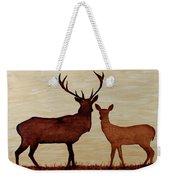 Coffee Painting Deer Love Weekender Tote Bag