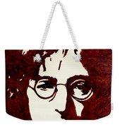 Coffee Painting John Lennon Weekender Tote Bag