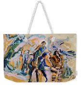 Coffee Papers. Sketch II . Present And Past Moments Weekender Tote Bag